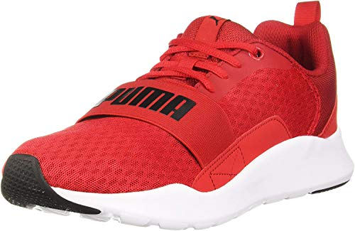 PUMA, Wired, Erwachsene-Sportschuhe, unisex, Rot - Rot / Weiß - Größe: 44.5 EU