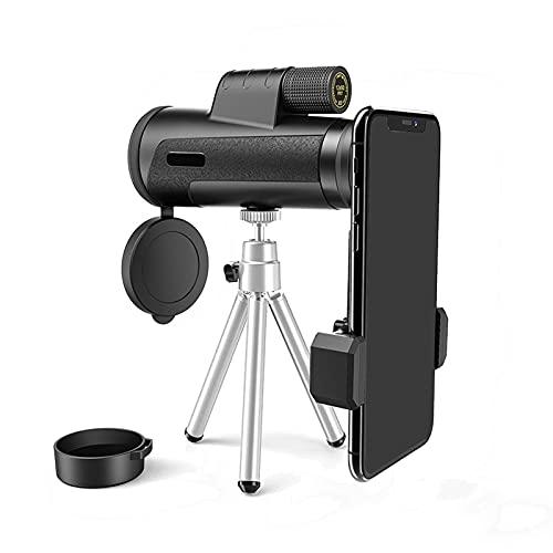 CFMZ Monoculares de Largo Alcance 80x300 Profesional Ultraligero Portátil Impermeable Telescopio con Zoom SúPer Teleobjetivo FMC HD Nocturna Binoculares Starscope Yadlan