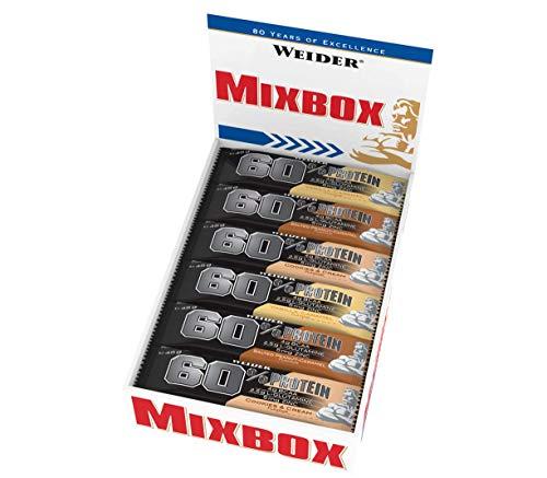 WEIDER 60% PROTEIN Bar 45gr Mix Box 24 délicieux Snacks Fitness & Musculation