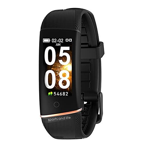 Reloj inteligente para hombres y mujeres, pantalla táctil LCD de 0.96 ', profundidad IP67 a prueba de agua, pulsera inteligente con podómetro, rastreador de sueño, rastreador de actividad para teléf