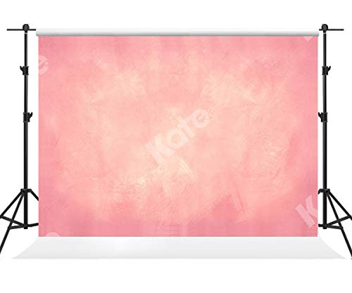 Kate 7×5ft(2.2×1.5m) Fondo de Foto Rosa Degradado Fondo de Foto Rosa Claro Fondo de Tela Fondo de Estudio Fotográfico Abstracto para Fotógrafo