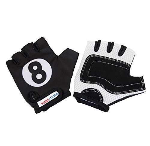 kiddimoto GLV006M - Handschuhe Billiard 8, Größe M, schwarz/weiß