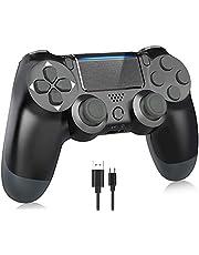 Mando para PS4 Inalámbrico, Controlador de Juegos con vibración Dual/Joystick de Juego/Conector para Auriculares/Sensor de Seis Ejes, para PS4 / Pro/Slim / PS3 / PC