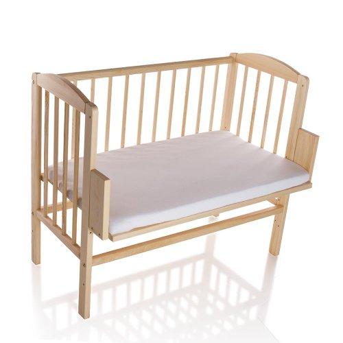 BABYBLUME Kinderbett Gitterbett Beistellbett Maria 90x40cm (Matratze BASIC, Kiefer)