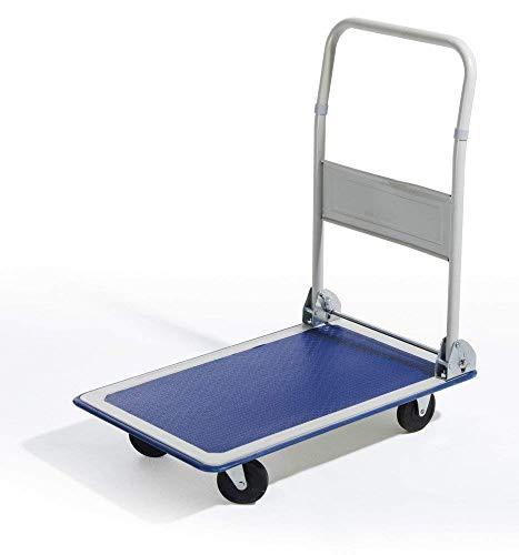 Carrello con Pianale Pieghevole in Acciaio, Portatutto con 4 ruote da trasporto con portata massima 150 kg