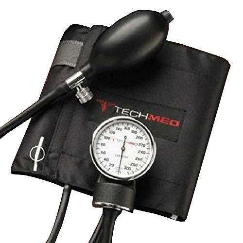 Dukal Pack of 10 Sphygmomanometers, Large Adult. Professional Blood Pressure Monitor with Black Nylon Cuff. Blood Measure Equipment with Durable Carrying Case. 0mm to 300 mm Hg.