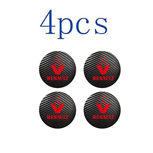 WOLHJ Tapacubos 4pcs 56mm 60mm 65 mm Compatible con Renault Sport Badge Logo Center Caps Caps Alloy Rim Rueda Hub Pegatinas (Color Name : Red, tamaño : 65 mm)