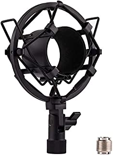 ConBwin Microphone Shock Mount Black Spider Universal Mic Shock Holder Adapter Clamp Clip Studio Condenser Anti-Vibration ...