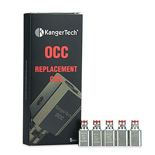 5er Pack Subtank Vertikal OCC Verdampferköpfe von Kanger, Zubehör/Widerstand:1.5 Ohm
