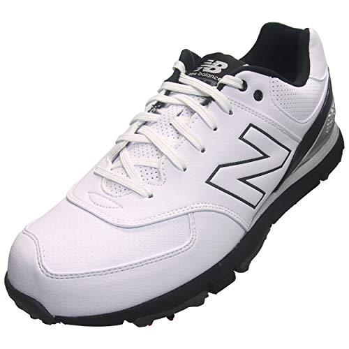 New Balance Mens Nbg574 Golf Shoes White/Black 4E 14