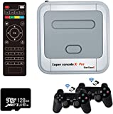 Kinhank Super Console X PRO Video Game Console Built in 41,000+ Games,2 Gamepads,Game Consoles for 4K TV Support HD Output,Support 5 Players,LAN/WiFi,Gifts for Men Who Have Everything (PRO-128G)