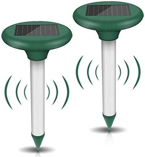 Vivibel 2 Repellente per Talpe, Repellente per Solare ad Ultrasuoni, Scaccia Talpe...