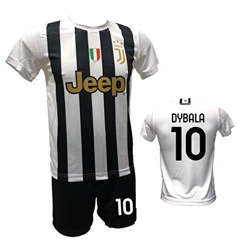 DND DI D'ANDOLFO CIRO Fußballtrikot weiß Home Paulo Dybala 10 la Joya und Shorts mit Nummer 10 bedruckt Replik zugelassen 2020-2021 Größen für Kinder und Erwachsene (L (Erwachsene))