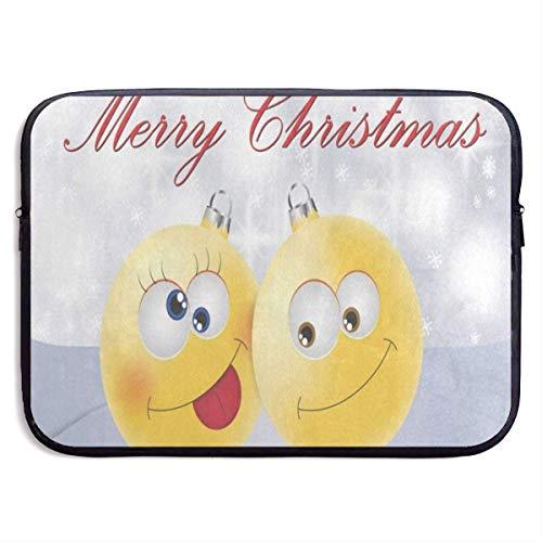 HGQHXY.U Frohe Weihnachten Emoji Schneeflocke Laptop Sleeve wasserdicht Neopren Tauchen Stoff schützende Aktentasche Laptop-Tasche für iPad, Notebook/Ultrabook