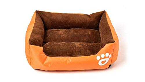 Monbedos hondenbed hondensofa hondenmand wasbaar hondenbed met rand voor buiten en thuis - L / 66 * 50cm, oranje