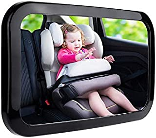Little Archer & Co.™ 360 Degree Adjustable Baby Safety Car Mirror – Easy to Install Mirror for Clear Visual of Rear Facing...