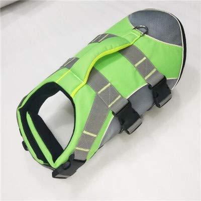 GCSEY Dog Life Jacket Vest Saver Veiligheid Hoge Elastische Oxford Doek Badpak met 3MM Reflecterende Strepen Hond Verstelbare Preserver Riem