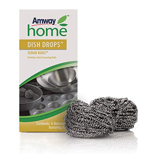 Amway Scouring Pads / Scrub Buds - Stainless Steel - 4 pack