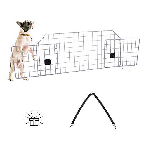 Sfeomi Schutzgitter Auto Hundegitter Hunde Barriere für SUV Universal Kofferraum Trenngitter für Hunde Schutzgitter Kopfstützen Verstellbares Kofferraumschutz Gitter
