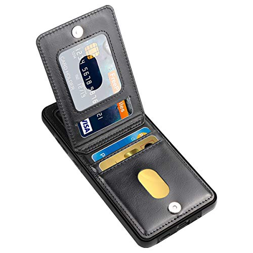LakiBeibi Samsung S20 Ultra Case, Dual Layer Lightweight Premium Leather Galaxy S20 Ultra Wallet Case with Card Holders Magnetic Lock Flip Phone Case for Samsung Galaxy S20 Ultra 5G (2020), Black