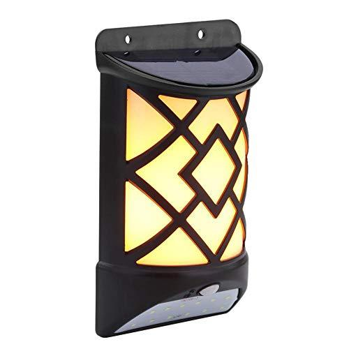 CUHAWUDBA 12 LED Solar Flame Wall Light Derlights Luce Sensore di Movimento Lampada Un Fiamma Solare Impermeabile Esterna per Garden Pathway Yard