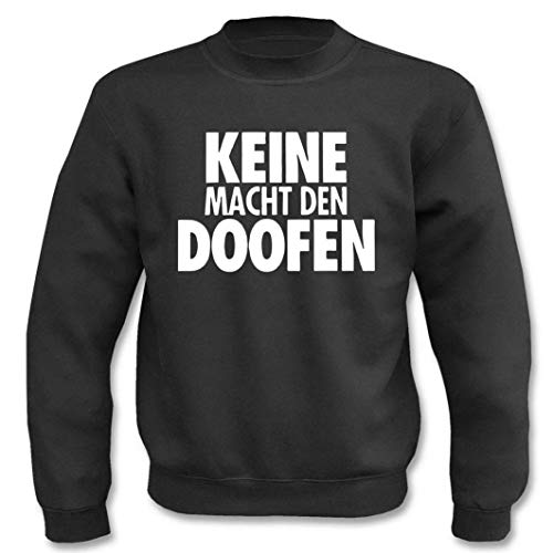 Textilhandel Hering - Jersey con texto 'Keine Macht den Doofen' Negro XXXL