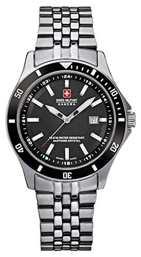 SWISS MILITARY-HANOWA Damen Analog Quarz Uhr mit Edelstahl Armband 06-7161.2.04.007
