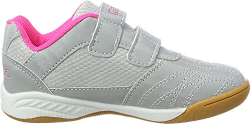 Kappa Mädchen Kickoff Sneaker, Silber (Silver/Pink 1522), 34 EU
