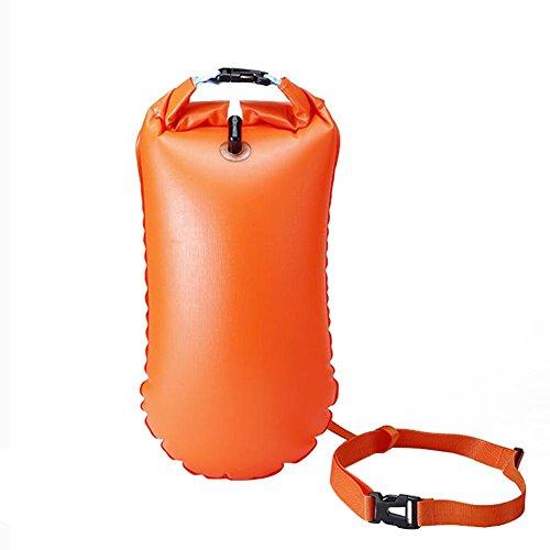 Gereton Boya De Natación Agua Abierta Seguridad Swim Buoy Estanca Bolsa Seca Dry Bag Impermeable Inflable al Nadar en el mar y en el Lago para Kayak