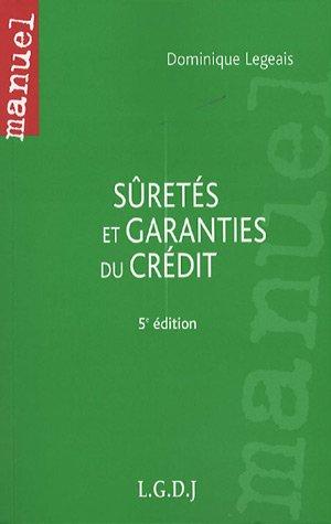 Sûreté et garanties du crédit