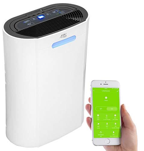 Sichler Haushaltsgeräte WLAN Luftentfeuchter: Luftentfeuchter, 10 l/Tag, für Amazon Alexa & Google Assistant, 265 W (Luftentfeuchter Bautrockner)