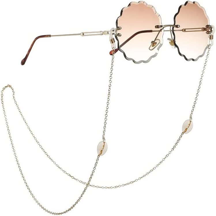 WJCCY Lanyard for Glasses Conch Shell Glasses Chain Fashion Glasses Strap Sunglasses Cords Casual Glasses Accessories (Color : A, Size : Length-70CM)