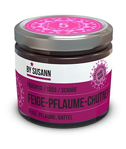 BY SUSANN - 05 FEIGE-PFLAUMEN-CHUTNEY im Glas (1 x 150 g), Geschmackserlebnisse mit intensiven und natürlichen Aromen, fruchtig, süß, scharf