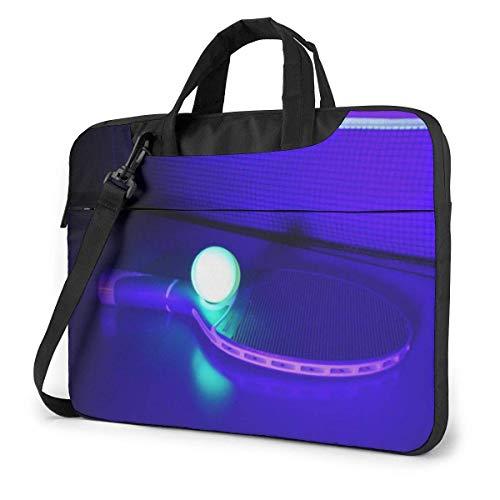 Laptop-Umhängetasche mit Laptop-Tasche 15,6 Zoll, Tischtennis-Computer-Hülle mit Griff