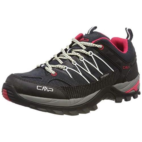 CMP Rigel Low Wmn Trekking Shoe WP, Scarpe da Arrampicata Basse Donna, Grigio (Antracite-off White 76uc), 37 EU