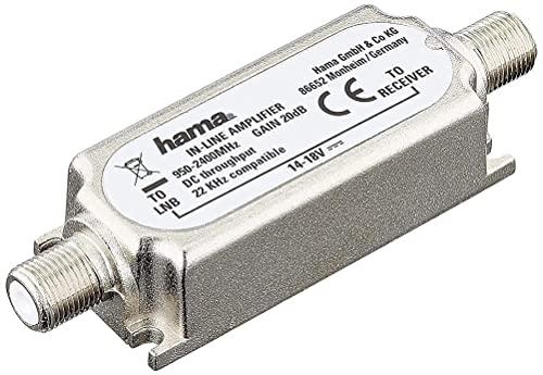 Hama 00044131 - Amplificatore in Linea per Trasmissioni Satelitari, 20DB, Grigio