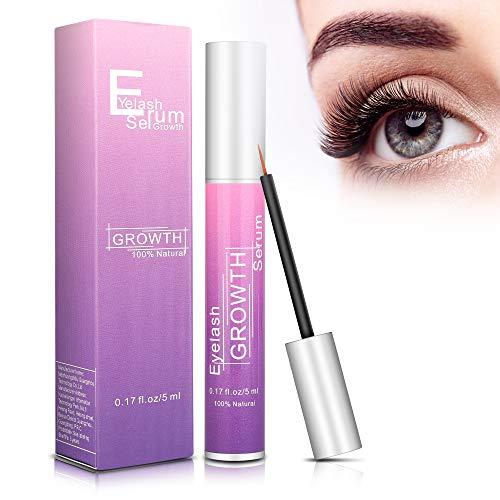 Wimpernserum Augenbrauenserum, Starkes und Schnelles Wimpernwachstum und Augenbrauenwachstum Eyelash Growth Serum Mehr Länge Dichte, Effektiver Wimpern Booster zur Wimpernverlängerung, 5 ml
