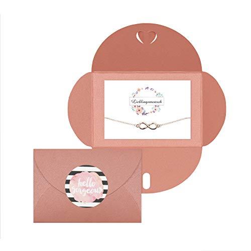 Lillyville Lieblingsmensch Umschlag: Pink Infinity: ros�goud.
