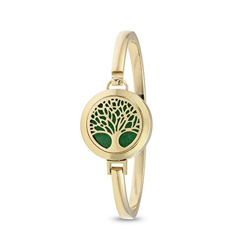 Tree of Life Diffuser Bracelet (Gold)