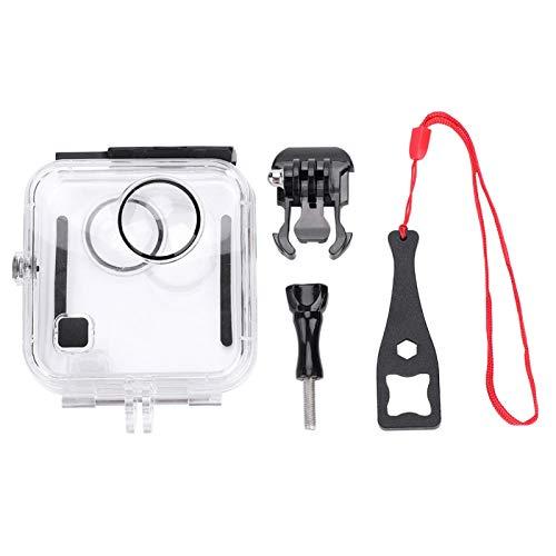Akozon Wasserdichter Gehäusekoffer Kompatibel mit der Go-Pro Kamera 45M / 146FT Unterwasserschutz-Tauchkofferschale