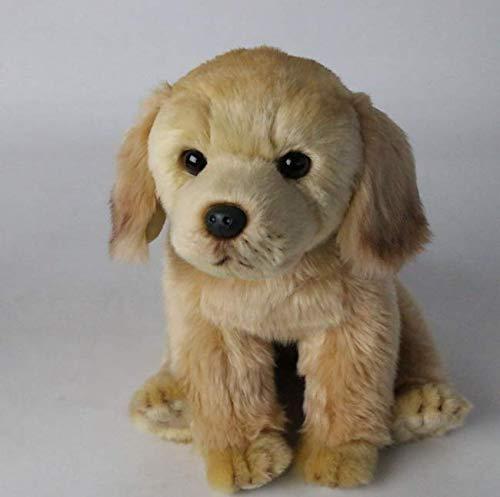 DJSK Peluche 28 * 20 * 26 cm Simulación Encantadora Animal Labrador Muñeca Peluche Kawaii Perro Peluche Juguete Lindo Decoraciones de niños Regalo para niños