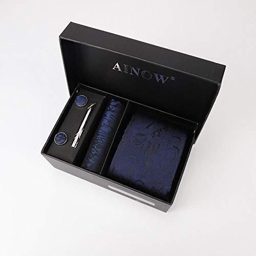 Luygiurp Krawatten Herrenherren Kleid Krawatte Business Boutique Geschenkbox 6 Sätze Gruppe Freizeit Jacquard Krawatte @ Kh-038