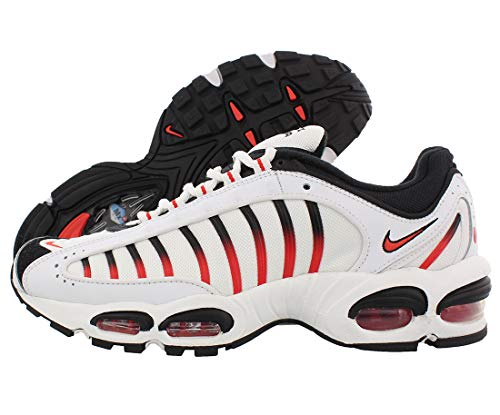 Nike Mens Air Max Tailwind IV White/Habenero Red-Blk Synthetic Size 10