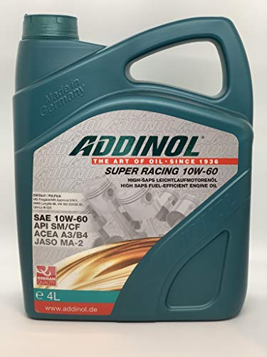 ADDINOL SUPER RACING 10W-60 A3/B3 Motorenöl, 4 Liter