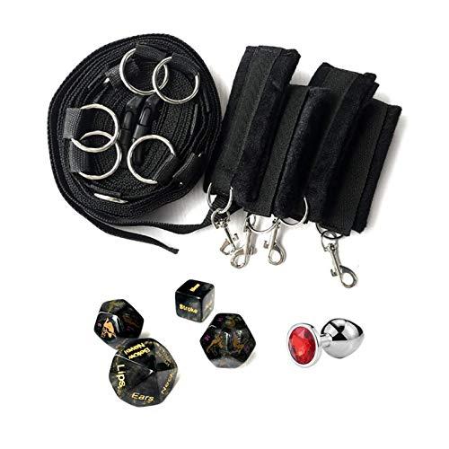 Bettfesseln Zurrgurt Set Augenbinde Fesseln unter Matratze für Arbeiten im Bett Sehr Pasional Body Bodystocking Flirten Spielzeug für Erwachsene Paare