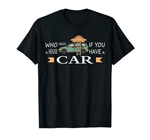 Camping Auto Shirt - DIY Micro Camper mit Dachzelt T-Shirt