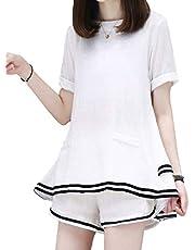 [コアラージュ] 選べる 3タイプ セットアップ カジュアル 可愛い ルームウェア 部屋着 パンツ パジャマ 半袖 レディース