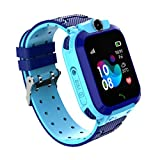 Smartwatch per bambini, Smartwatch per bambini, Orologi per bambini, LBS, Effettua chiamata, Chat vocale, SOS, Modalità classe, Videocamera, Giochi, Regalo per bambini 3-12 anni, supporto 2G SIM (blu)