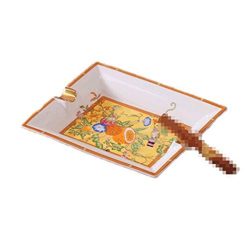Cenicero a prueba de viento Cenicero de escritorio de China de hueso, cenicero de cigarrillo de cigarro grande de cerámica para uso en interiores, uso al aire libre en el hogar ( Color : Style E )