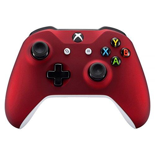 eXtremeRate Case für Xbox One S/X Controller,Vorderseite Hülle Cover Schutzhülle Oberschale Skin Schale Gehäuse Shell Zubehör für Xbox One S/Xbox One X Controller(Rot)